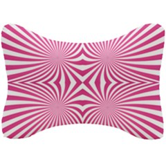 Hypnotic Psychedelic Abstract Ray Seat Head Rest Cushion by Alisyart
