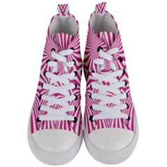 Hypnotic Psychedelic Abstract Ray Women s Mid Top Canvas Sneakers
