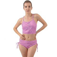 Hypnotic Psychedelic Abstract Ray Mini Tank Bikini Set