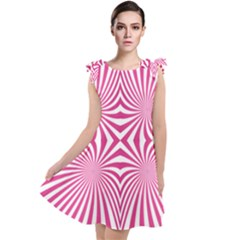 Hypnotic Psychedelic Abstract Ray Tie Up Tunic Dress