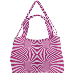 Hypnotic Psychedelic Abstract Ray Double Compartment Shoulder Bag by Alisyart