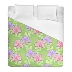 Lily Flowers Green Plant Duvet Cover (full/ Double Size) by Alisyart