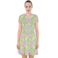 Lily Flowers Green Plant Adorable In Chiffon Dress