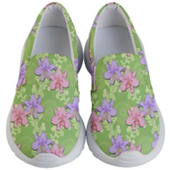 Lily Flowers Green Plant Kids  Lightweight Slip Ons