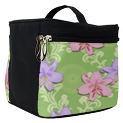Lily Flowers Green Plant Make Up Travel Bag (small)