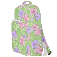 Lily Flowers Green Plant Double Compartment Backpack