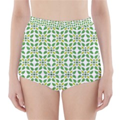 Leaf Leaves Flora High-waisted Bikini Bottoms