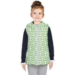 Leaf Leaves Flora Kids  Hooded Puffer Vest