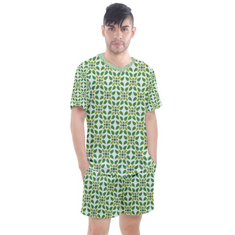 Leaf Leaves Flora Men s Mesh Tee And Shorts Set by Alisyart