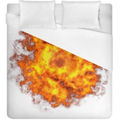 Fire Transparent Duvet Cover (king Size) by AnjaniArt