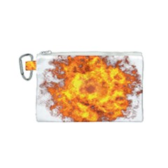 Fire Transparent Canvas Cosmetic Bag (small)