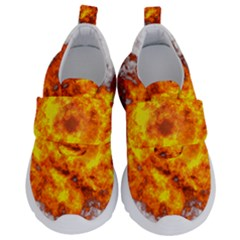 Fire Transparent Kids  Velcro No Lace Shoes by AnjaniArt