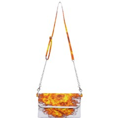 Fire Transparent Mini Crossbody Handbag by AnjaniArt