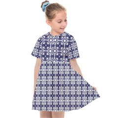 Flower Decorative Kids  Sailor Dress