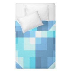 Fabric Cotton Aqua Blue Patchwork Duvet Cover Double Side (single Size) by AnjaniArt