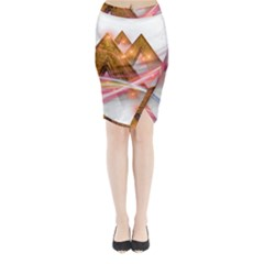 Golden Triangle Midi Wrap Pencil Skirt by AnjaniArt