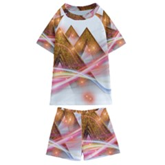 Golden Triangle Kids  Swim Tee And Shorts Set
