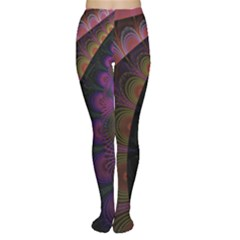 Fractal Colorful Pattern Spiral Tights by AnjaniArt