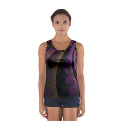 Fractal Colorful Pattern Spiral Sport Tank Top  by AnjaniArt