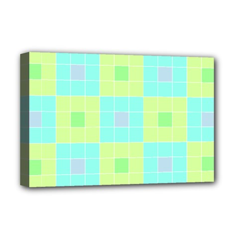 Grid Geometric Pattern Colorful Deluxe Canvas 18  X 12  (stretched)