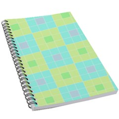 Grid Geometric Pattern Colorful 5 5  X 8 5  Notebook by AnjaniArt