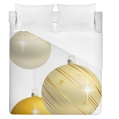 Hanging Christmas Balls Duvet Cover (queen Size) by AnjaniArt