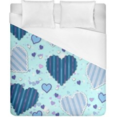 Hearts Pattern Duvet Cover (california King Size) by AnjaniArt