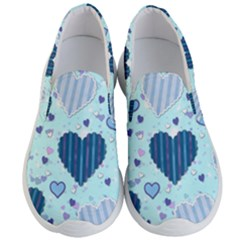 Hearts Pattern Men s Lightweight Slip Ons by AnjaniArt