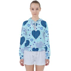 Hearts Pattern Women s Tie Up Sweat
