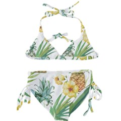 Hawaii Pineapple Wallpaper Tropical Plants Kids  Classic Bikini Set by AnjaniArt