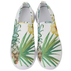 Hawaii Pineapple Wallpaper Tropical Plants Men s Slip On Sneakers by AnjaniArt