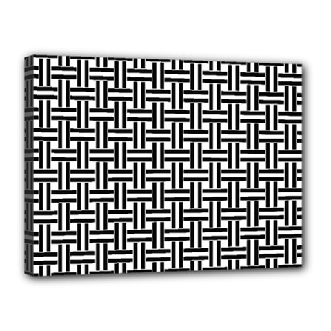 Line Pattern Canvas 16  X 12  (stretched)