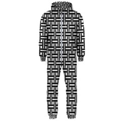 Line Pattern Hooded Jumpsuit (men)  by AnjaniArt