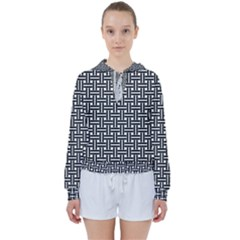 Line Pattern Women s Tie Up Sweat