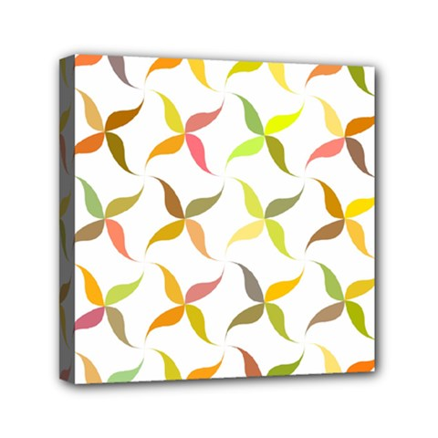 Leaf Autumn Background Mini Canvas 6  X 6  (stretched)