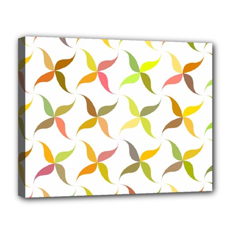 Leaf Autumn Background Canvas 14  X 11  (stretched)
