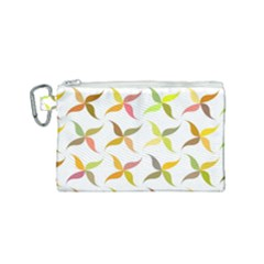 Leaf Autumn Background Canvas Cosmetic Bag (small)