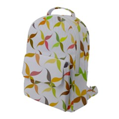 Leaf Autumn Background Flap Pocket Backpack (large) by AnjaniArt