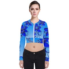 Kringel Lines Creative Vine Stems Long Sleeve Zip Up Bomber Jacket