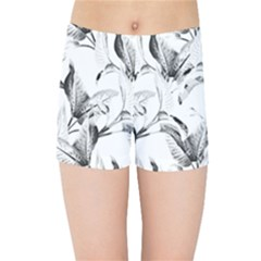 Leaves Tropical Kids  Sports Shorts