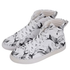 Leaves Tropical Women s Hi Top Skate Sneakers by AnjaniArt