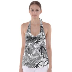 Leaves Nature Picture Babydoll Tankini Top by AnjaniArt