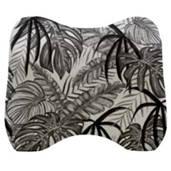 Leaves Nature Picture Velour Head Support Cushion
