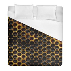 Hexagon Honeycomb Grid Pattern Duvet Cover (full/ Double Size) by AnjaniArt