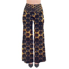 Hexagon Honeycomb Grid Pattern So Vintage Palazzo Pants