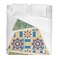 Hristmas Tree Triangle Duvet Cover (full/ Double Size) by AnjaniArt