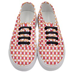 Hexagon Polygon Colorful Prismatic Women s Classic Low Top Sneakers