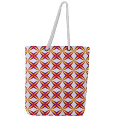 Hexagon Polygon Colorful Prismatic Full Print Rope Handle Tote (large)