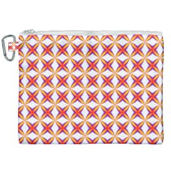 Hexagon Polygon Colorful Prismatic Canvas Cosmetic Bag (xxl) by AnjaniArt