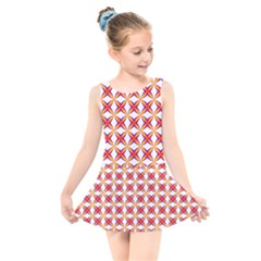 Hexagon Polygon Colorful Prismatic Kids  Skater Dress Swimsuit